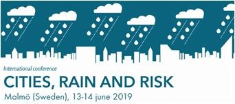 International Conference CITIES, RAIN and RISK, 13-14 June 2019,  Malmö, Sweden