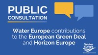 Water Europe launches Online Public Consultation on possible contribution to the EU Green Deal