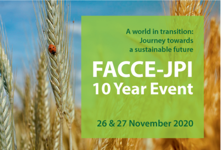 """FACCE-JPI 10 Year Event """"A world in transition: Journey towards a sustainable future"""""""